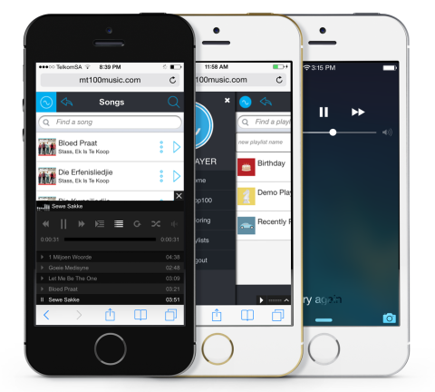 Web Application – MyTop100 Music
